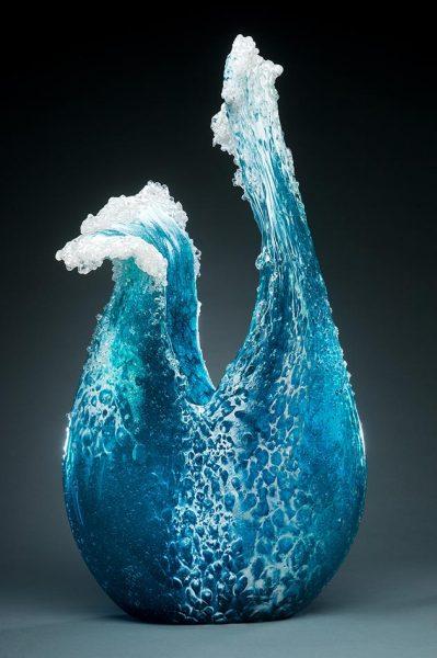 ساخت اشیا دکوراتیو با الهام از امواج اقیانوس