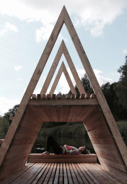 طراحی پاویون متحرک برای گردش در پارک ملی استونی